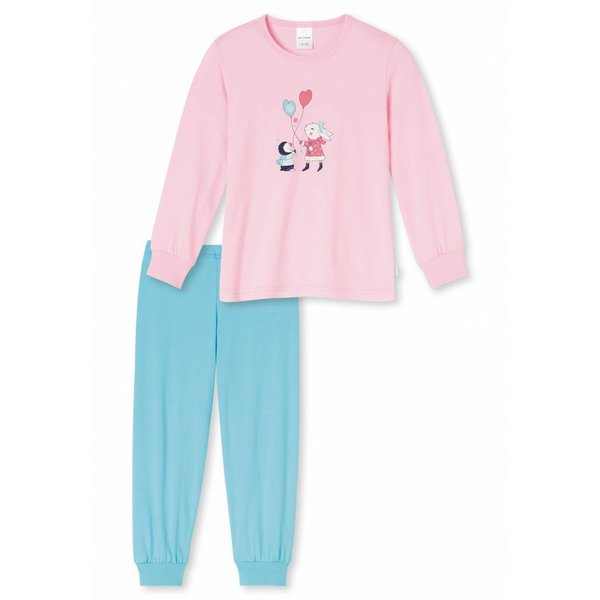 Mädchen Schlafanzug lang rose