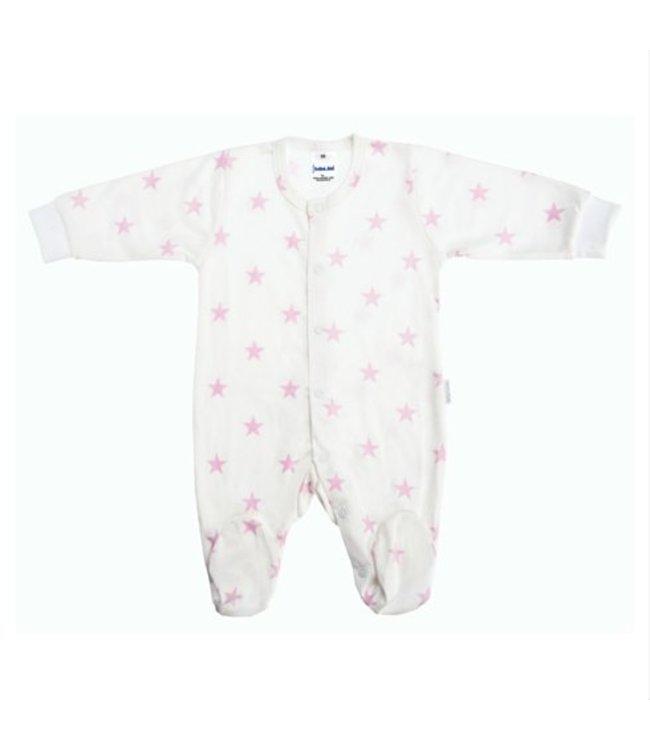 Zewi bébé-jou Baby Kombi Interlock Stars white/rose
