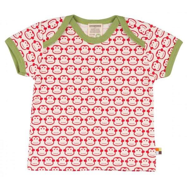 Kinder T-Shirt allover Affe tomato