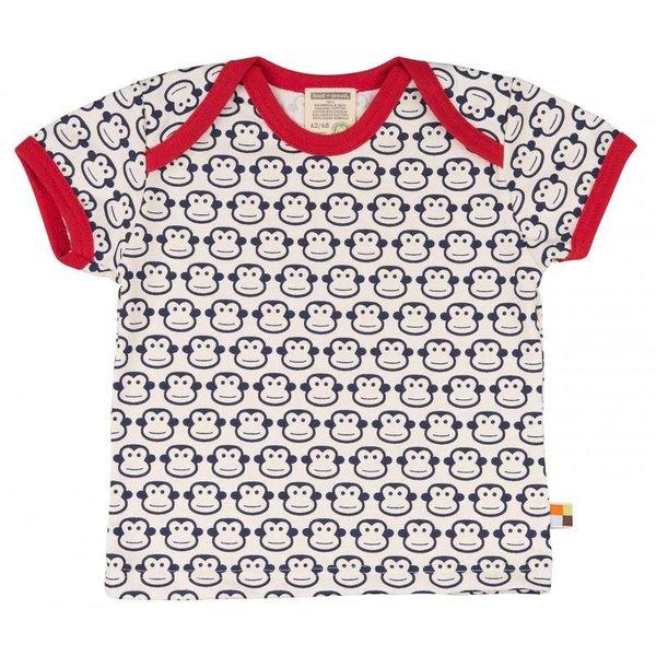 Kinder T-Shirt allover Affe navy