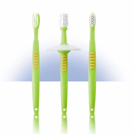 Reer Lern-Zahnbürstenset mit Sicherheitsteller