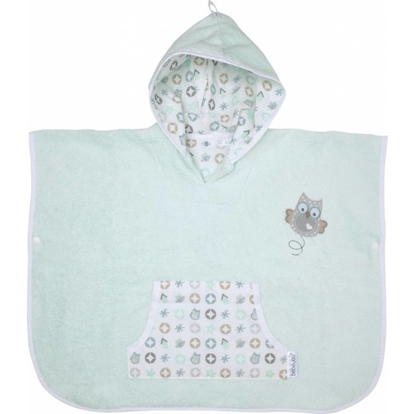Poncho mint green Owl Family