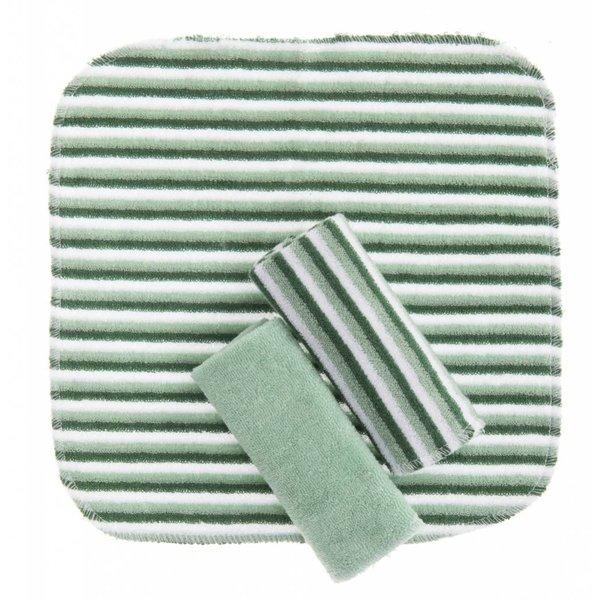 Waschtücher 3 Stk. grün