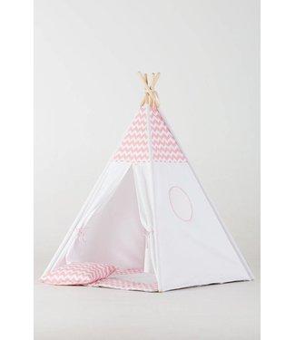WigiWama Kinder Tipi Chevron pink