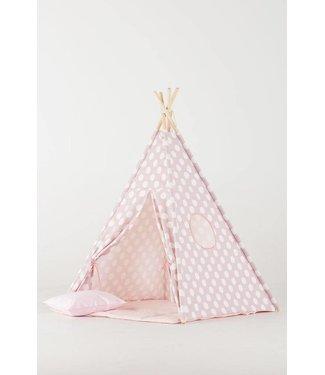 WigiWama Kinder Tipi Punkte pink