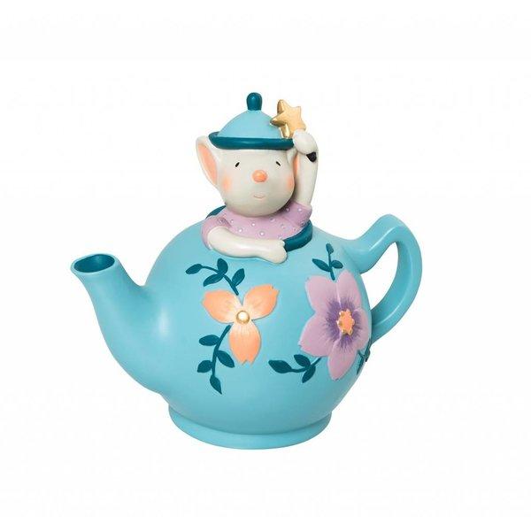 Spardose Teekanne mit Maus