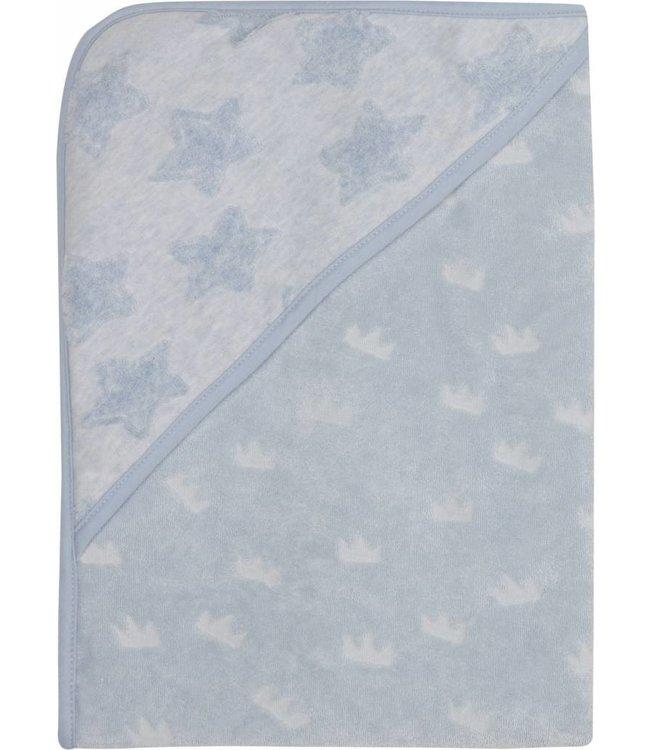 Zewi bébé-jou Badetuch mit Kapuze frosted blue