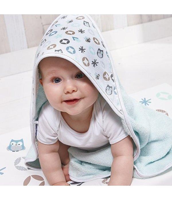 Zewi bébé-jou Badetuch mit Kapuze morning mint
