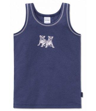 Schiesser Mädchen Unterhemd dunkelblau