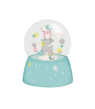 Moulin Roty Schneekugel mit Musik Katze