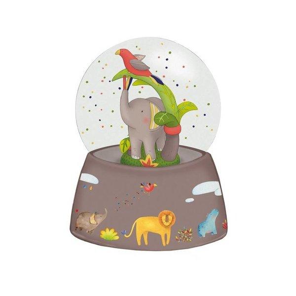 Schneekugel mit Musik Elefant