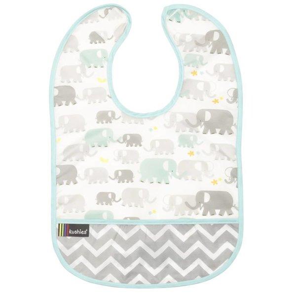 Lätzchen ohne Ärmel CleanBib Elefanten