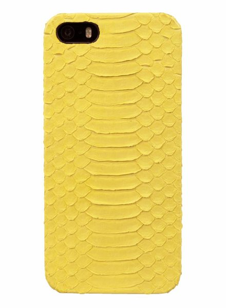 iPhone 5/5s/SE Cadmium Yellow Real Snake Skin Leather