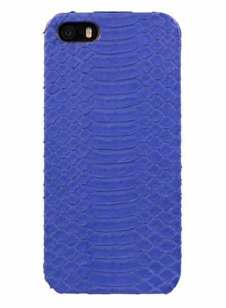 iPhone 5/5s/SE Blue Moon Real Snake Skin Leather