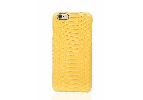 Cases We Love iPhone 6 Plus / 6s Plus Cadmium Yellow Real Snake Leather