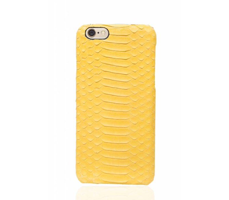 iPhone 6 Plus / 6s Plus Cadmium Yellow Real Snake Leather