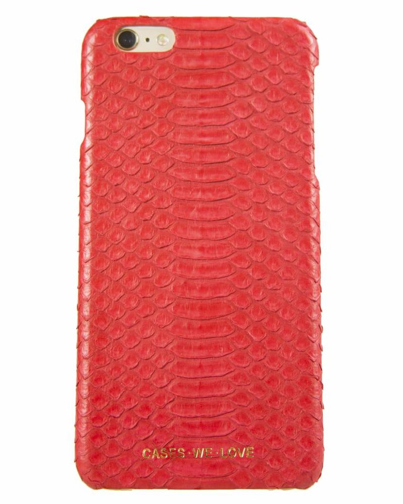 iPhone 7 Red Lips Real Snake Skin