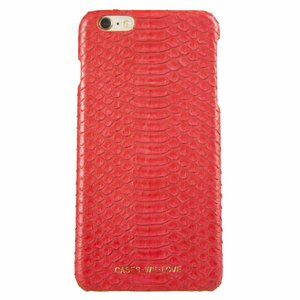 Cases We Love iPhone 7 Plus/ 8 Plus Red Lips Real Snake Skin