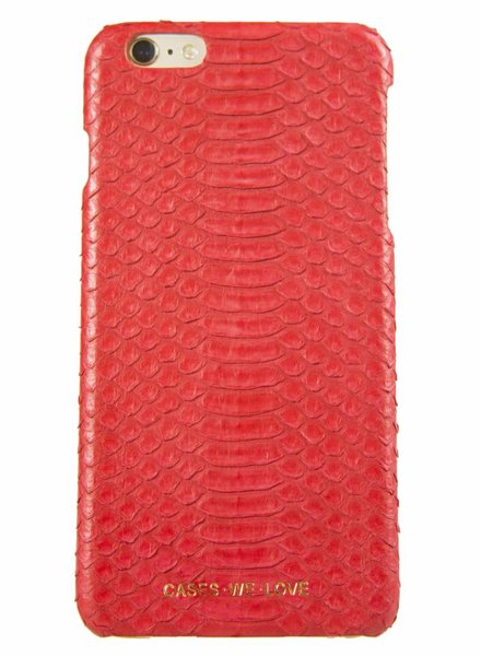 iPhone 7 Plus Red Lips Real Snake Skin