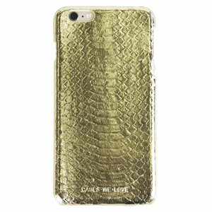 Cases We Love iPhone 7 Plus/ 8 Plus Gold Real Snake Skin Leather