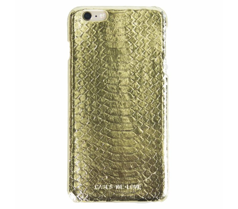 iPhone 7 Plus/ 8 Plus Gold Real Snake Skin Leather
