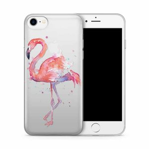 Cases We Love iPhone 7/8 Flamingo Watercolor Pink Bird