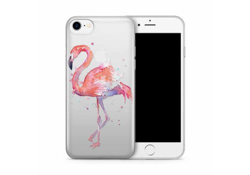 Apple iPhone 7/8 Flamingo Watercolor Pink Bird