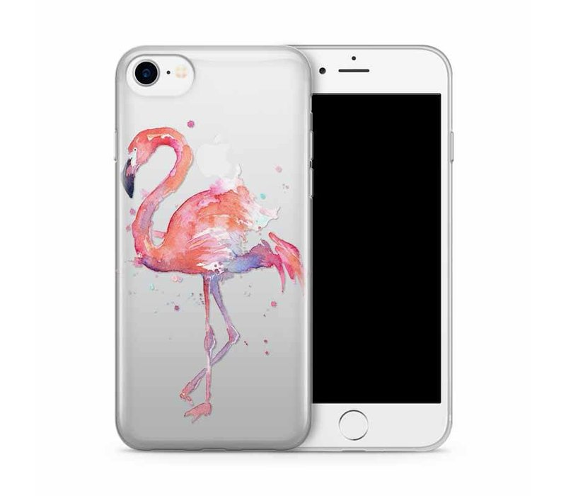 iPhone 7/8 Flamingo Watercolor Pink Bird