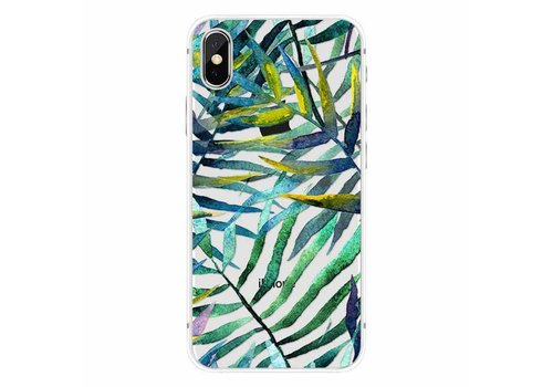 Apple iPhone X Aloha Summer Green Leaves