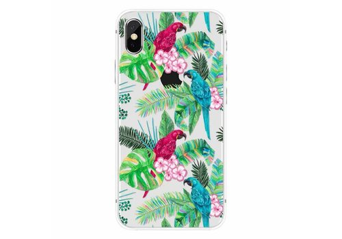 Apple iPhone X Peacock Floral