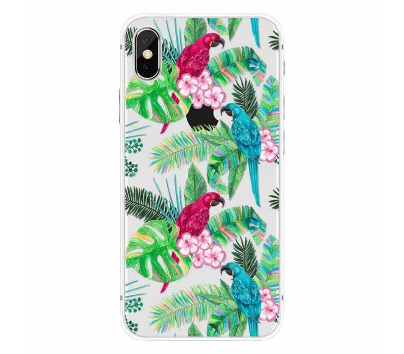 iPhone X Peacock Floral