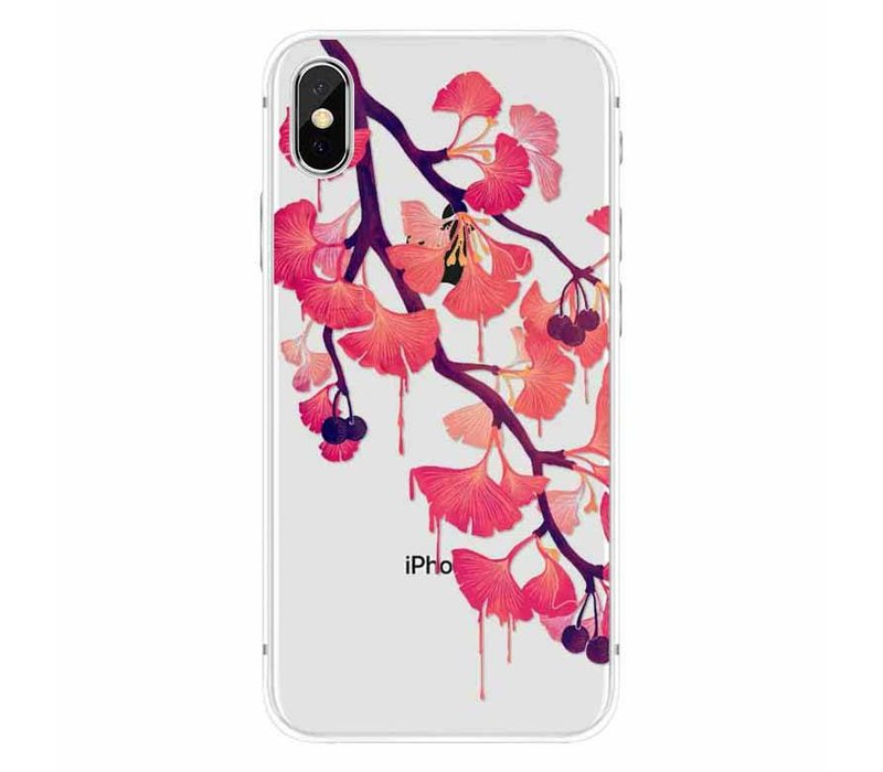 iPhone X Red Blossom