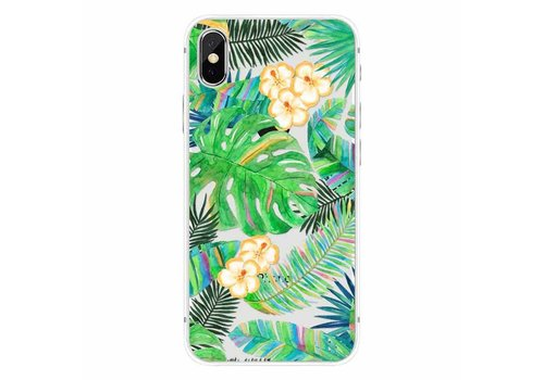 Apple iPhone X Tropical Leaves