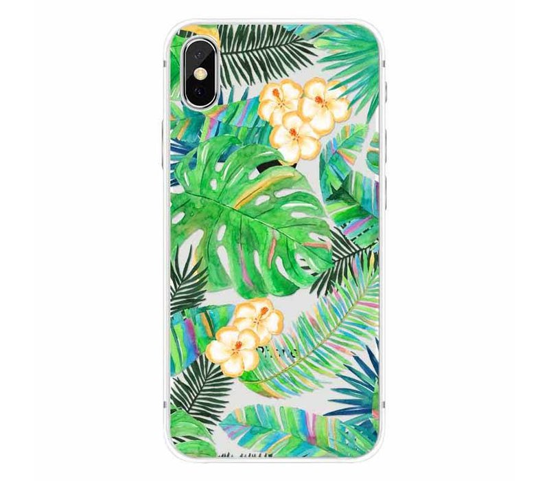 iPhone X Tropical Leaves