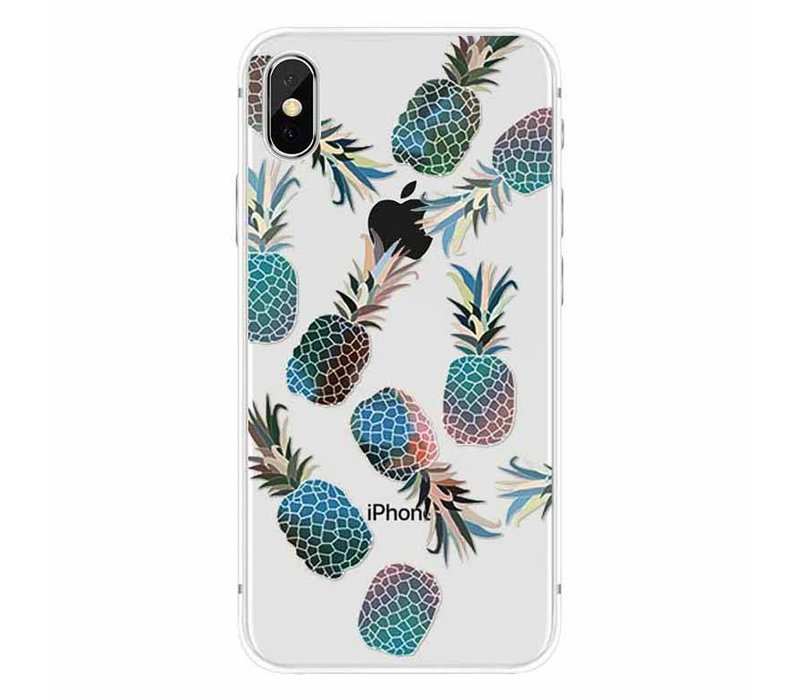 iPhone X Blue Pineapple