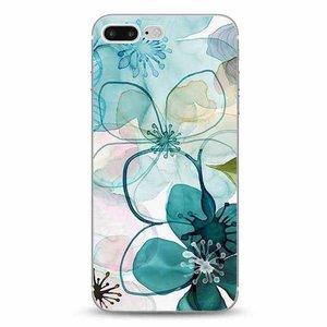 Cases We Love iPhone 7 Plus / 8 Plus Purple Peony Watercolor