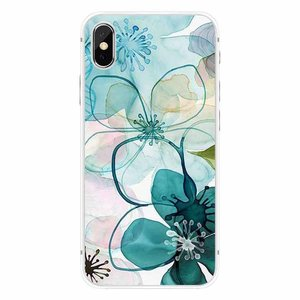 CWL iPhone X Purple Peony Watercolor