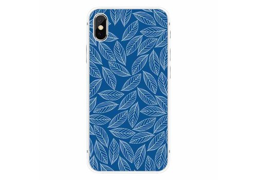 Apple iPhone X Blue Leaves Melody