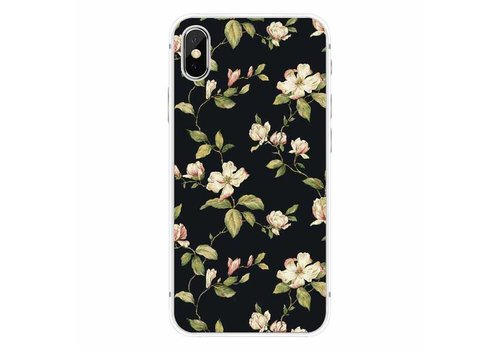 Apple iPhone X Floral Black