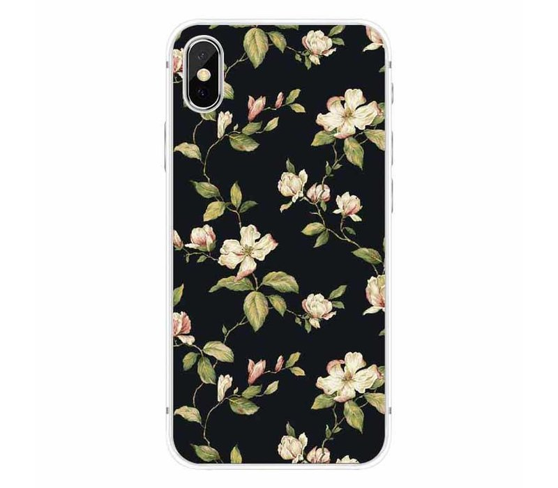 iPhone X Floral Black
