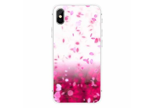 Apple iPhone X Pink Rain Cherry Blossom