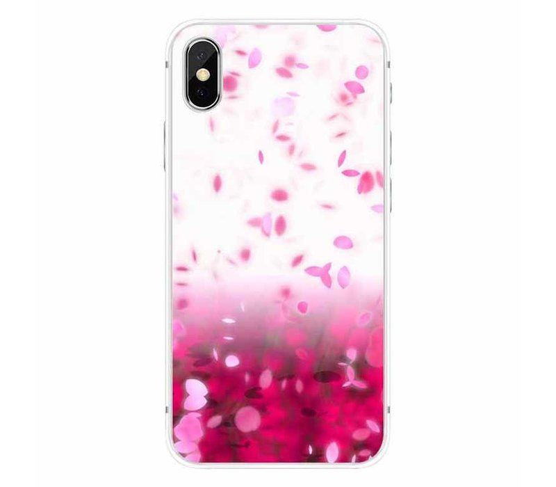 iPhone X Pink Rain Cherry Blossom