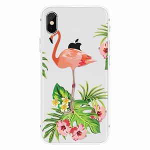 Cases We Love iPhone X Flamingo Garden