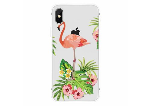 Apple iPhone X Flamingo Garden