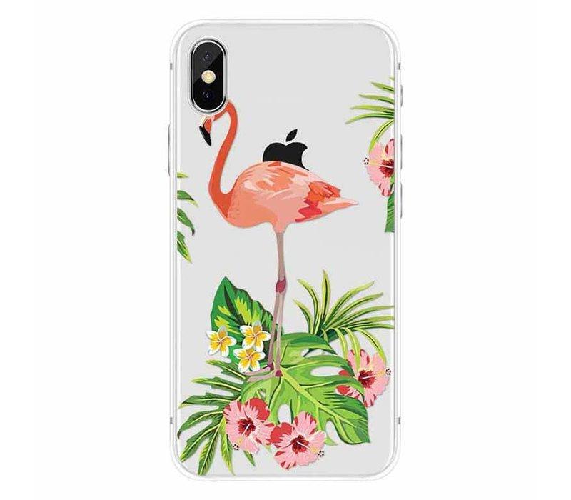 iPhone X Flamingo Garden
