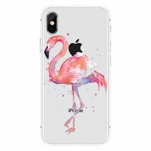 Cases We Love iPhone X Flamingo Watercolor Pink Bird