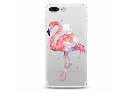 Apple iPhone 7 Plus / 8 Plus Flamingo Watercolor Pink Bird