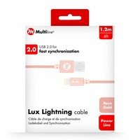 Multiline Lux Lightning cable Rose Gold
