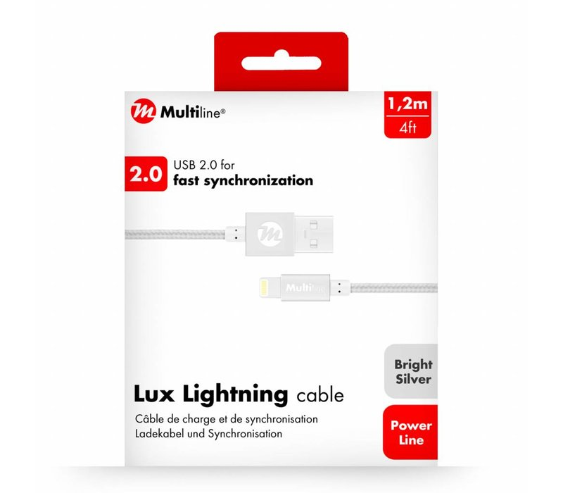Multiline Lux Lightning cable Bright Silver