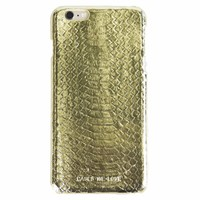 iPhone 7/8 Gold Real Snake Skin Leather